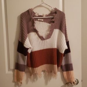 Miracle Distressed Knit Sweater